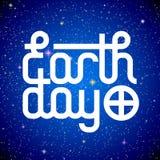 Rotulação do Dia da Terra Fotografia de Stock Royalty Free