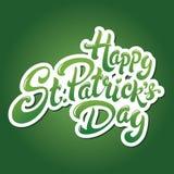 Rotulação do dia de Patricks de Saint Imagem de Stock