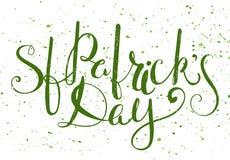 Rotulação do dia do St Patricks Imagens de Stock