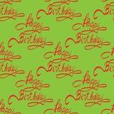 Rotulação do feliz aniversario - caligrafia feito a mão Fotografia de Stock