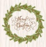 Rotulação do fundo do Feliz Natal Fotos de Stock