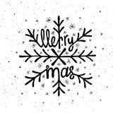 Rotulação do Natal Imagens de Stock