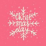 Rotulação do Natal Imagens de Stock Royalty Free