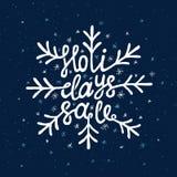 Rotulação do Natal Foto de Stock Royalty Free