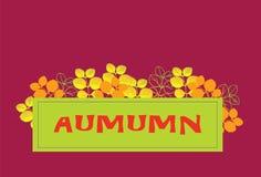 Rotulação do outono com folhas seasonal ilustração stock