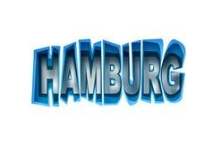 Rotulação do porto de Hamburgo ilustração royalty free