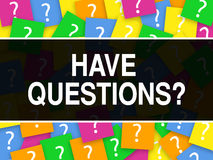 A rotulação do projeto do serviço ao cliente tem perguntas ilustração stock