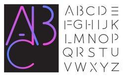 Rotulação do vetor - alfabeto da fonte Fotografia de Stock Royalty Free