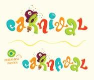 Rotulação engraçada do carnaval com versão portuguesa Imagens de Stock