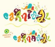 Rotulação engraçada do carnaval com versão portuguesa Imagens de Stock Royalty Free