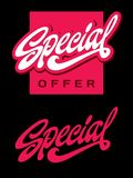Rotulação especial e caligrafia da palavra elegante cursivos com swashes Imagens de Stock