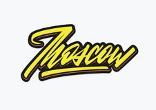 Rotulação expressivo do vetor do roteiro de Mosow Imagem de Stock
