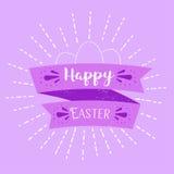 Rotulação feliz da Páscoa ilustração stock