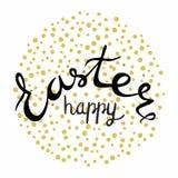 Rotulação feliz da Páscoa Páscoa que rotula cores pretas Imagem de Stock Royalty Free