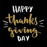 Rotulação feliz do dia da ação de graças ilustração do vetor