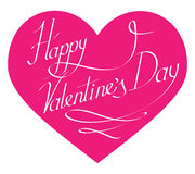 A rotulação feliz do dia de Valentim para abaixa ilustração do vetor