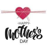 Rotulação feliz do dia do ` s da mãe no fundo branco ilustração royalty free
