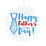Rotulação feliz do dia do ` s do pai com fundo dos sunbursts Ilustração do vetor Fotos de Stock