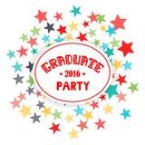 Rotulação graduada do vetor do partido 2016 Fotografia de Stock Royalty Free