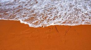 rotulação 2017 na praia Foto de Stock