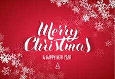 Rotulação no estilo popular do Feliz Natal do ` feliz Fotos de Stock Royalty Free