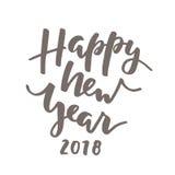 Rotulação nova feliz de 2018 anos ilustração royalty free