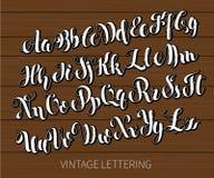 Rotulação preto e branco ABC pintou letras Rotulação escovada moderna Fotos de Stock Royalty Free