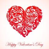 Rotulação tipográfica feliz do dia de Valentim no fundo cor-de-rosa com ilustração branca do vetor do coração ilustração do vetor