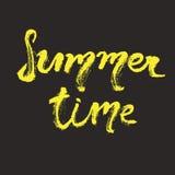 Rotulação tirada mão - horas de verão Fotografia de Stock