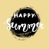 Rotulação tirada mão - verão feliz Imagens de Stock