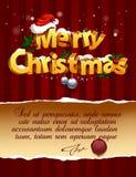 Rotulação tridimensional do Natal Fotos de Stock Royalty Free
