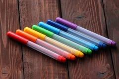 Rotuladores coloreados Foto de archivo