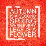 Rotulando Autumn Banner Postcard sazonal Fotografia de Stock Royalty Free