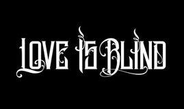 Rotulando citações positivas sobre o amor ao dia de Valentim O amor é cego Fotografia de Stock