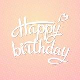 Rotulando o feliz aniversario Foto de Stock Royalty Free