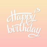 Rotulando o feliz aniversario Imagem de Stock Royalty Free