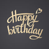 Rotulando o feliz aniversario Imagens de Stock