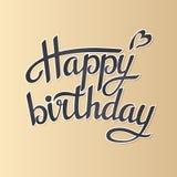 Rotulando o feliz aniversario Fotos de Stock Royalty Free