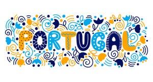 Rotulando Portugal Ilustração do vetor ilustração royalty free