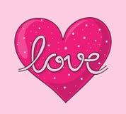 Rotulação do amor Fotografia de Stock Royalty Free