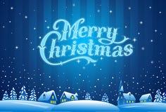 Rotulação do Feliz Natal Fotos de Stock Royalty Free