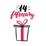 Rotulação do vetor do dia do Valentim s Amor isolado da caligrafia da escrita Foto de Stock
