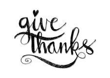 Rotular dá agradecimentos Fotografia de Stock