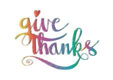 Rotular dá agradecimentos Imagem de Stock Royalty Free