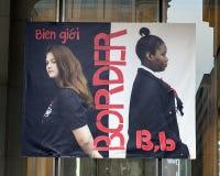Rotule B para a beira, bandeira do vinil, projeto imigrante do alfabeto, Philadelphfia Fotografia de Stock