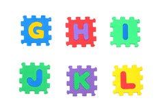 Rotule g, h, i, j, k, l Fotografia de Stock