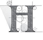 Rotule H Foto de Stock