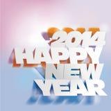 2014: Rotule o dobramento com papel, ano novo feliz Foto de Stock