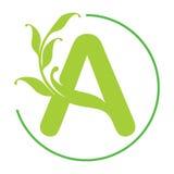 Rotule um logotipo Ícone criativo do conceito Imagens de Stock