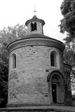 Rotunda à Prague en noir et blanc images stock